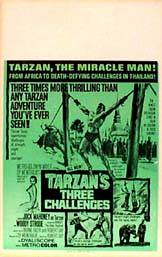 image of Tarzan's Three Challenges movie poster